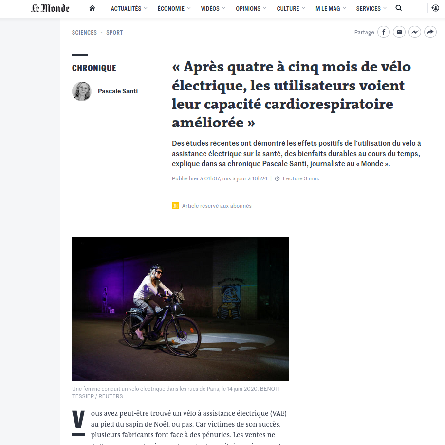Article VAE Le Monde